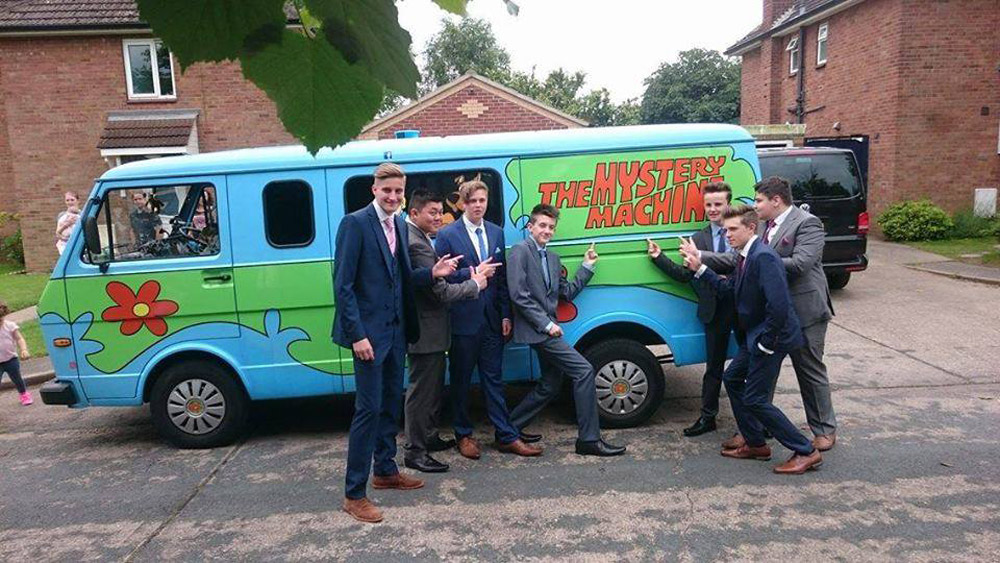 mystery machine unusual prom car