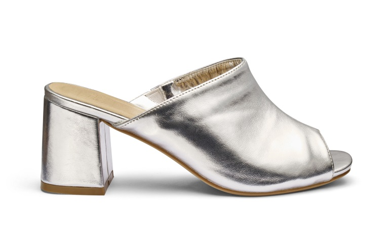 jd williams silver mules