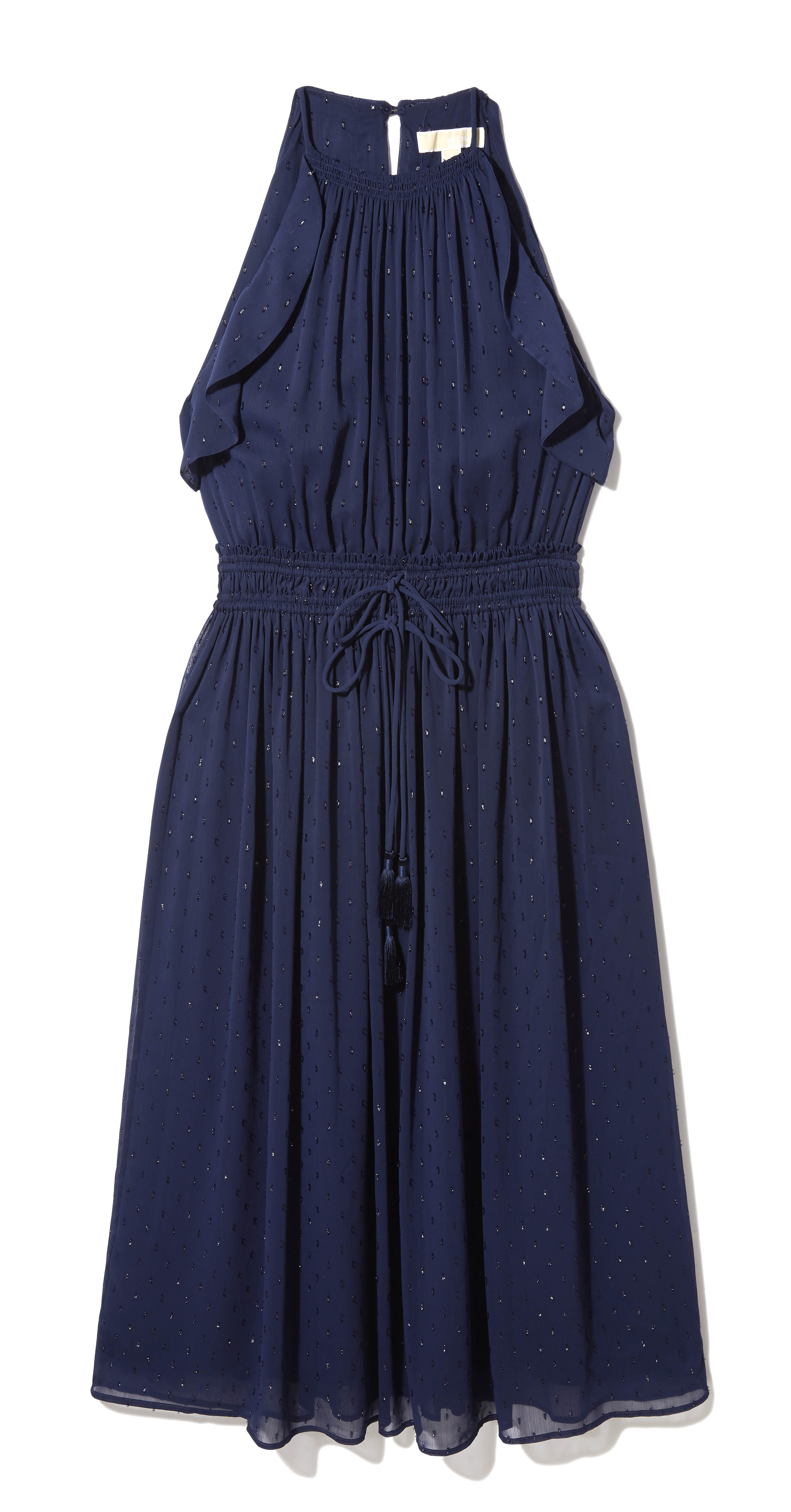 Michael Kors Navy Sleeveless Prom Dress